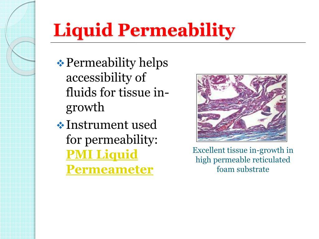 Liquid Permeability