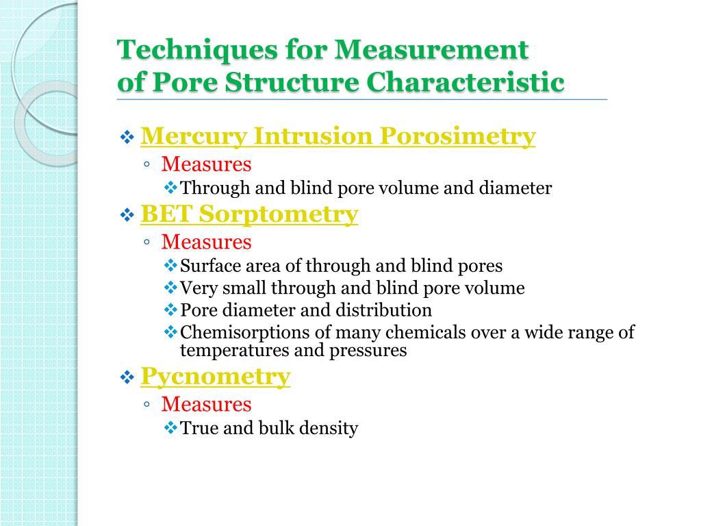 Techniques for Measurement