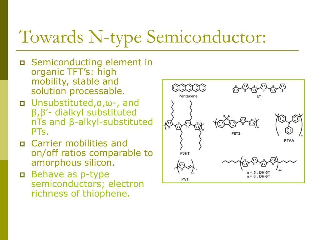 Towards N-type Semiconductor: