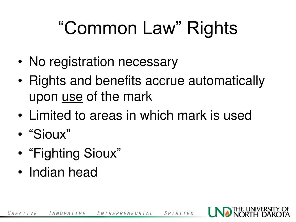 """Common Law"" Rights"