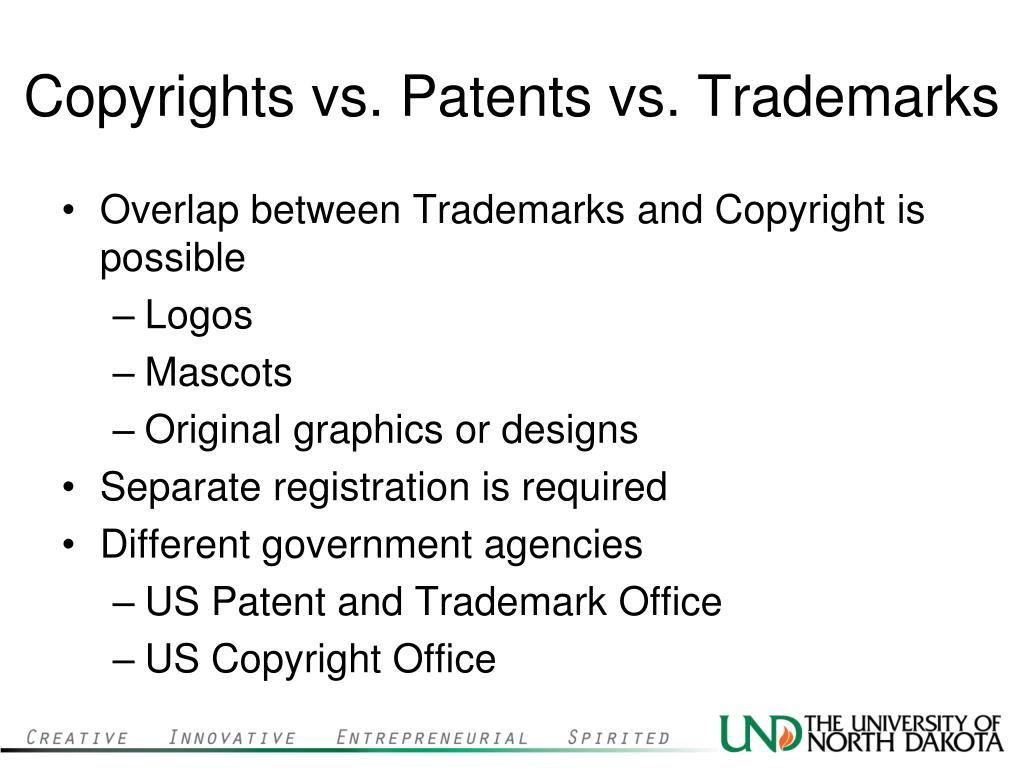 Copyrights vs. Patents vs. Trademarks