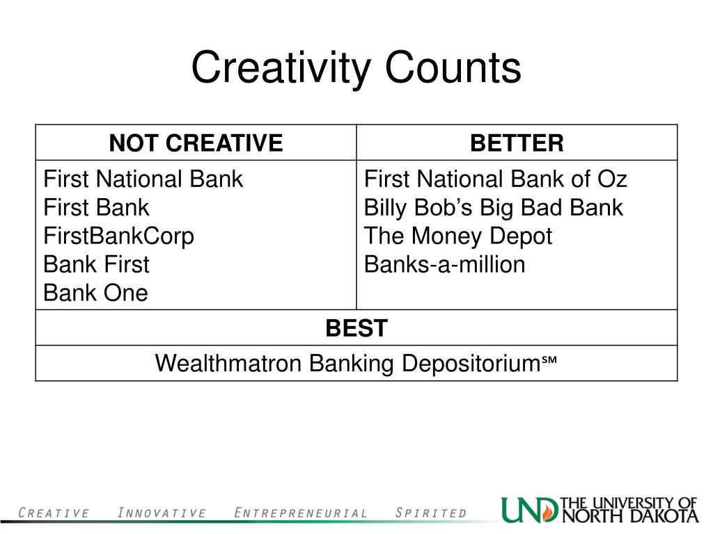 Creativity Counts