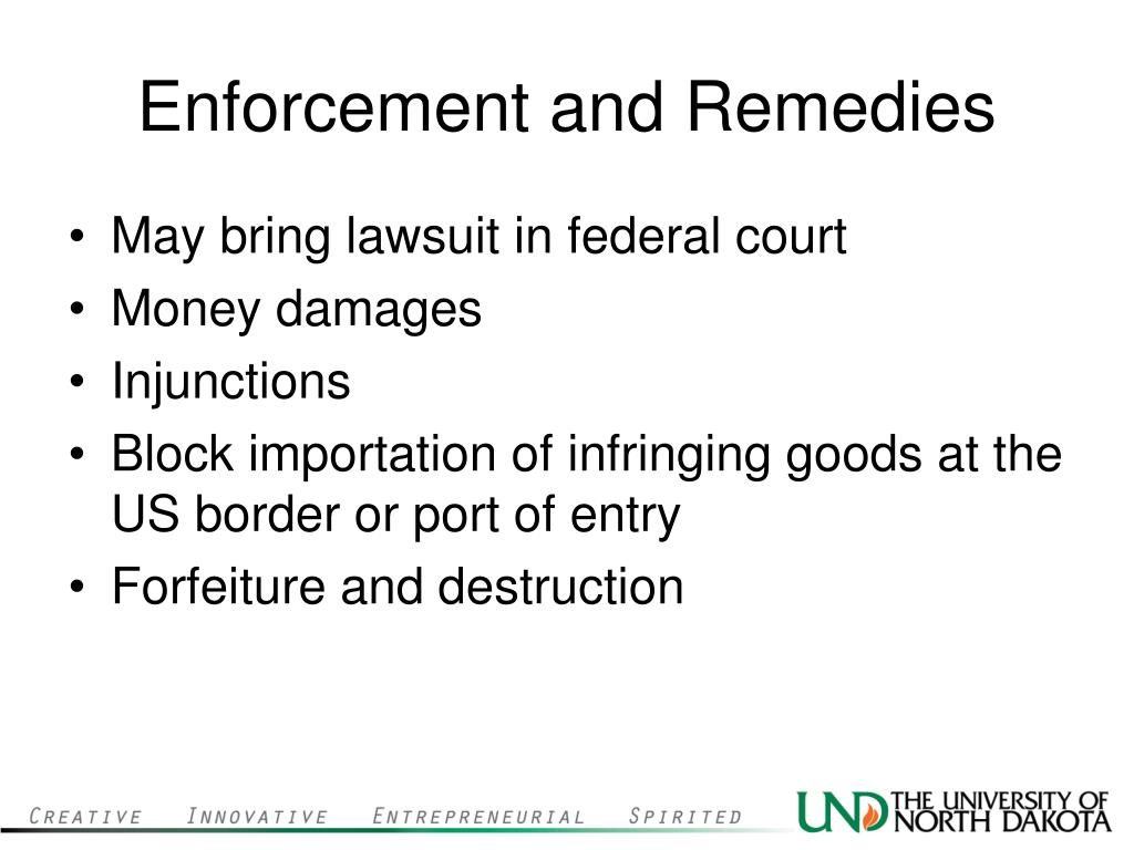 Enforcement and Remedies