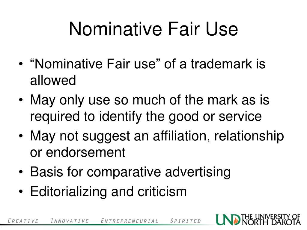 Nominative Fair Use