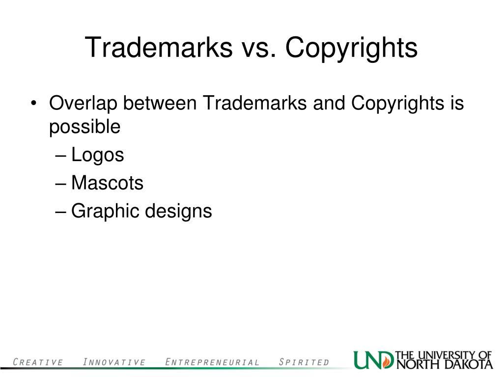Trademarks vs. Copyrights