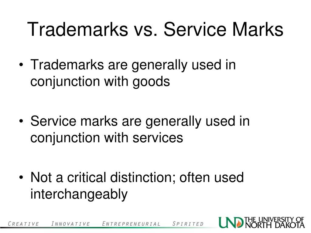 Trademarks vs. Service Marks