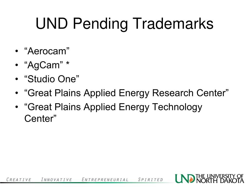 UND Pending Trademarks