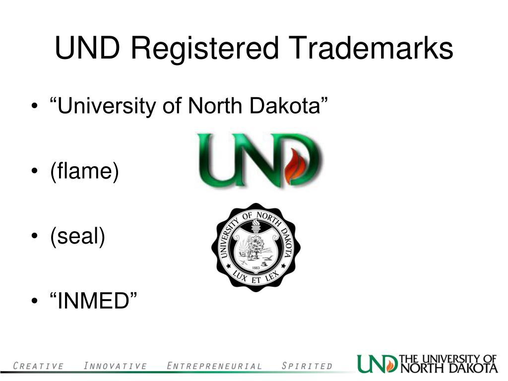 UND Registered Trademarks