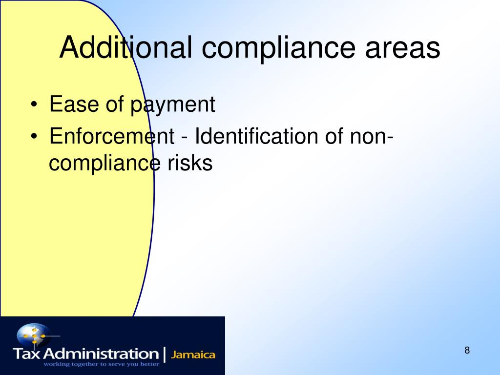 Additional compliance areas