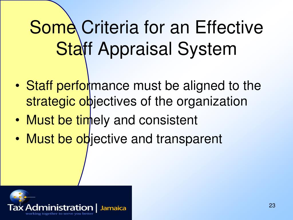 Some Criteria for an Effective Staff Appraisal System