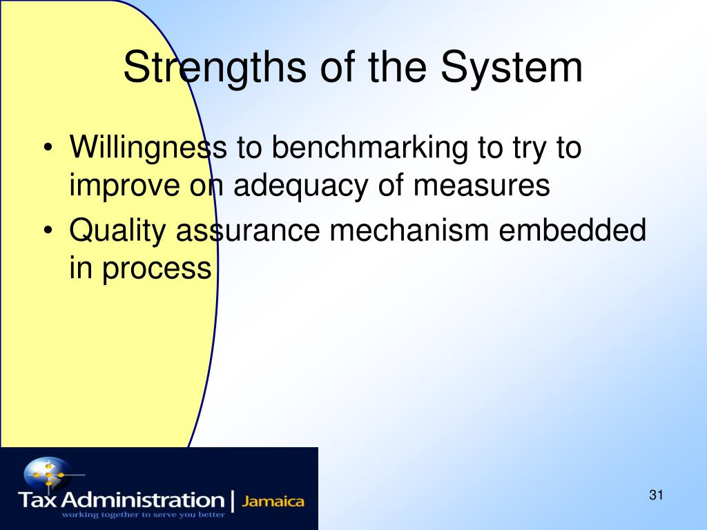 Strengths of the System