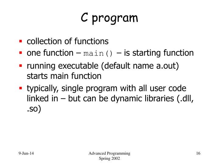 C program