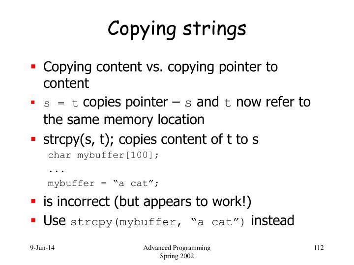 Copying strings