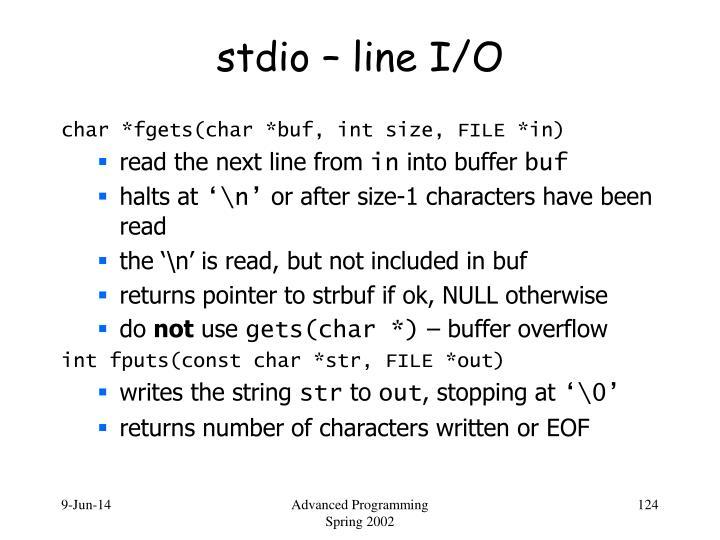stdio – line I/O