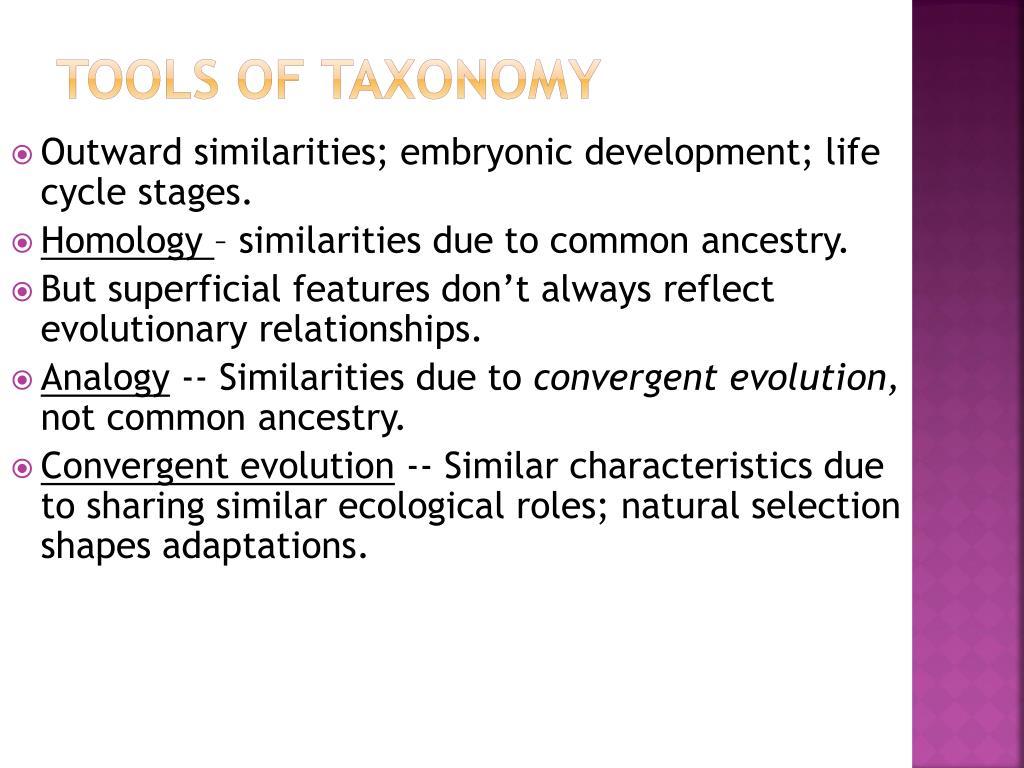 Tools of Taxonomy