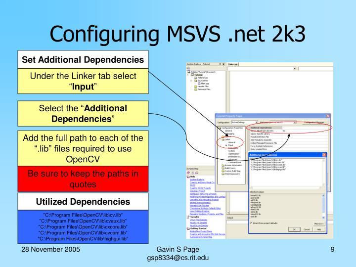 Set Additional Dependencies