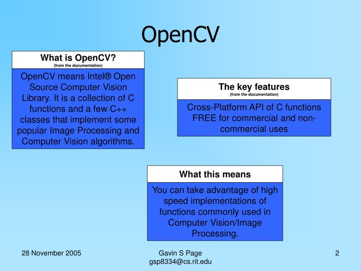 What is OpenCV?