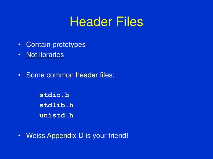 Header Files
