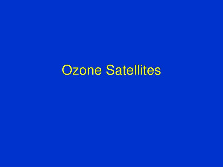 Ozone Satellites