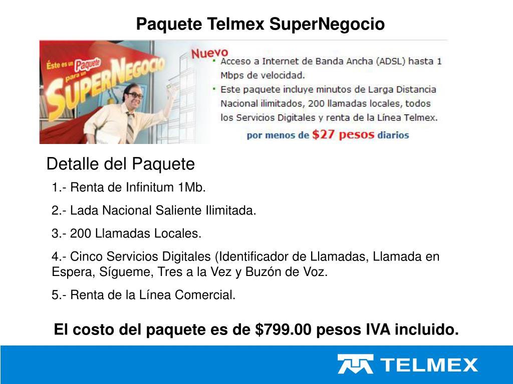 Paquete Telmex SuperNegocio