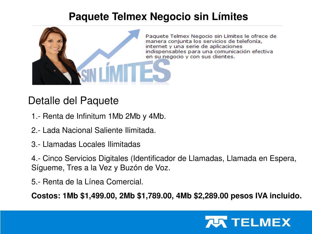 Paquete Telmex Negocio sin Límites