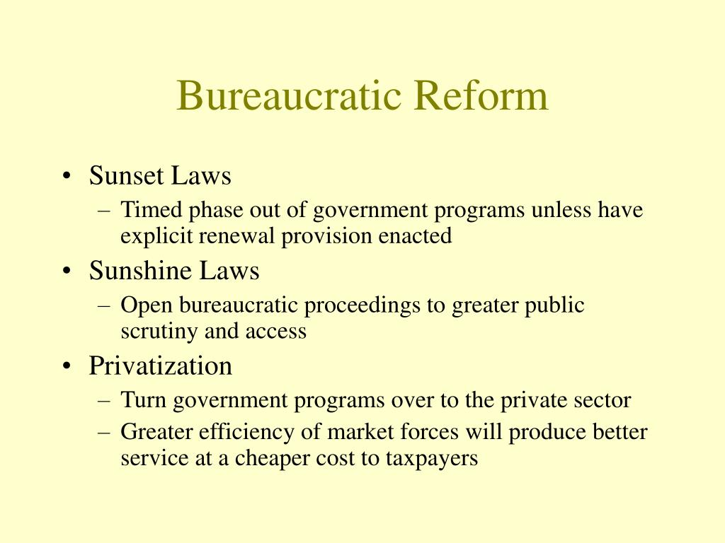 Bureaucratic Reform