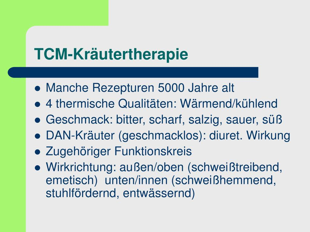 TCM-Kräutertherapie