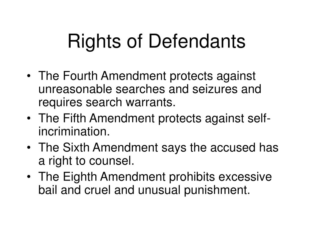 Rights of Defendants