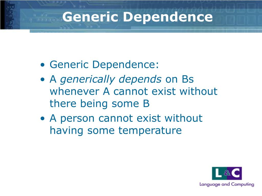 Generic Dependence
