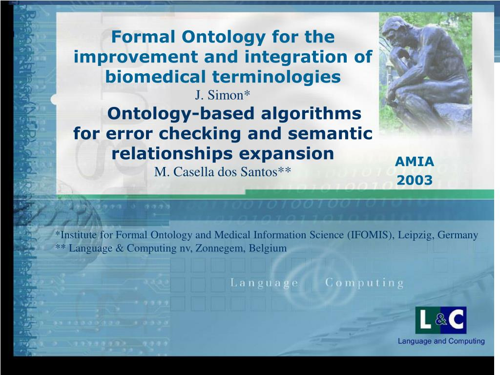 Formal Ontology for the improvement and integration of biomedical terminologies