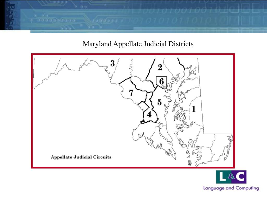 Maryland Appellate Judicial Districts