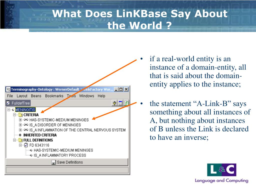 What Does LinKBase Say About the World ?