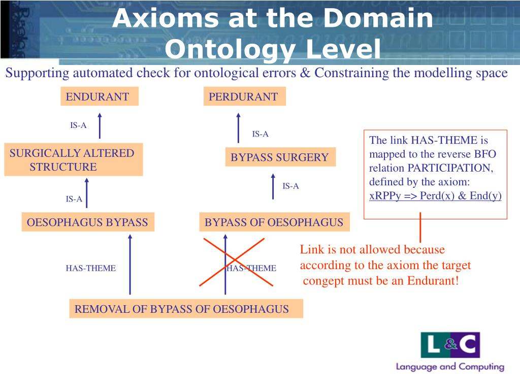 Axioms at the Domain Ontology Level