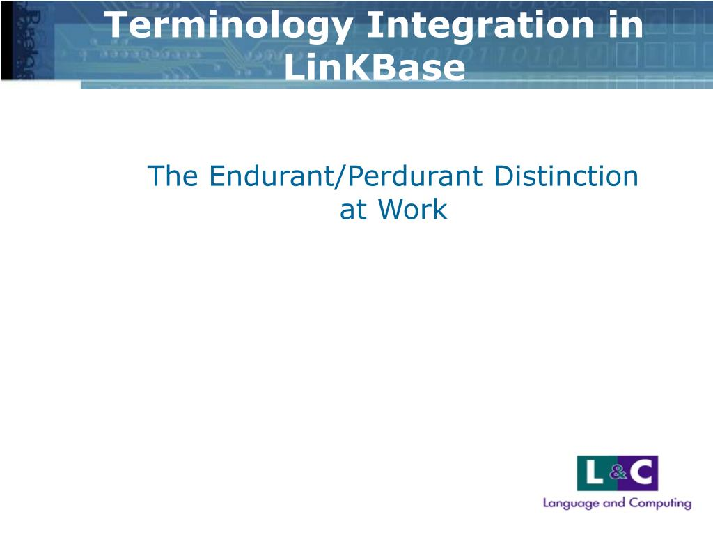 Terminology Integration in LinKBase