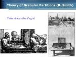 theory of granular partitions b smith