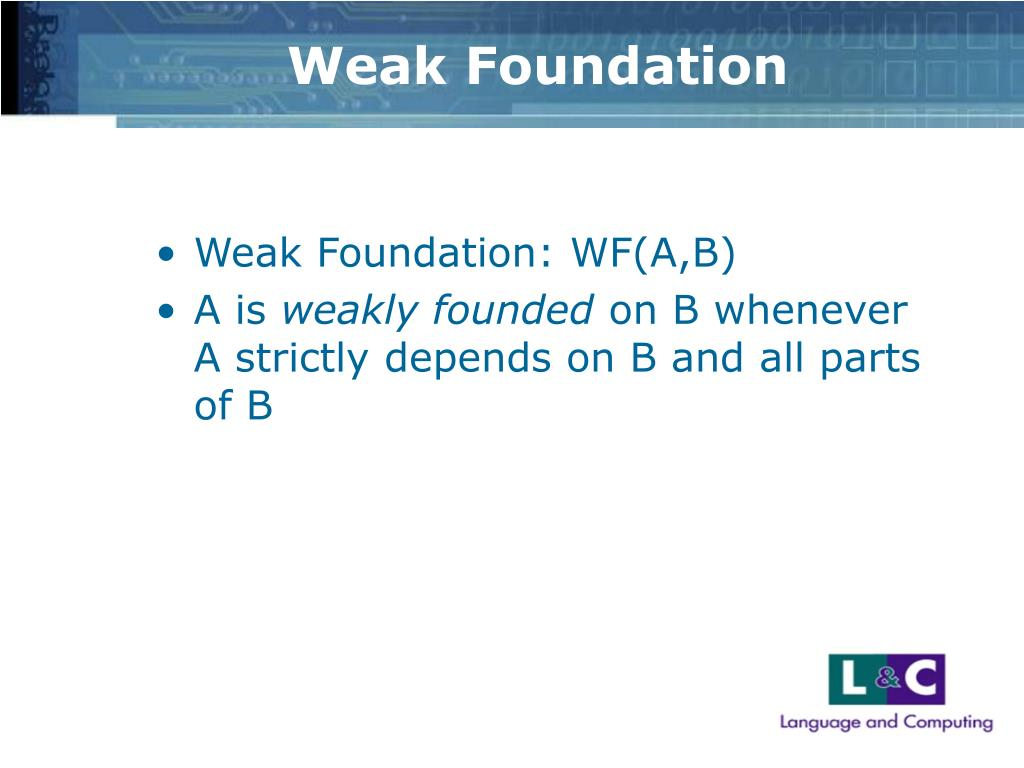 Weak Foundation