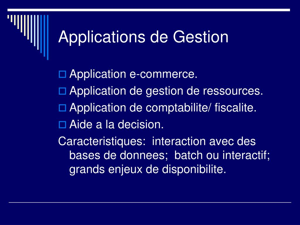 Applications de Gestion