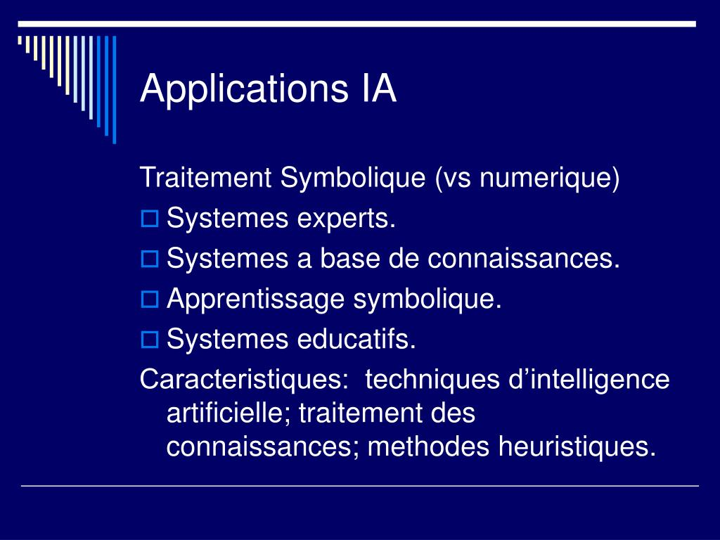 Applications IA