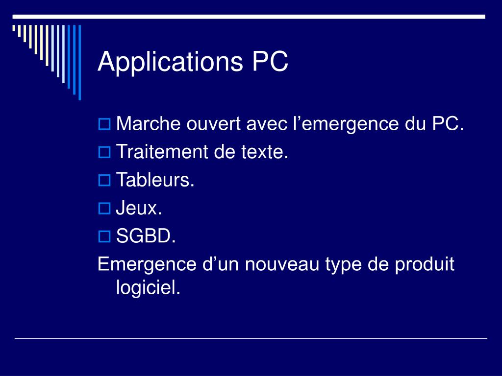 Applications PC