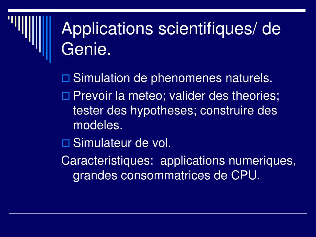 Applications scientifiques/ de Genie.