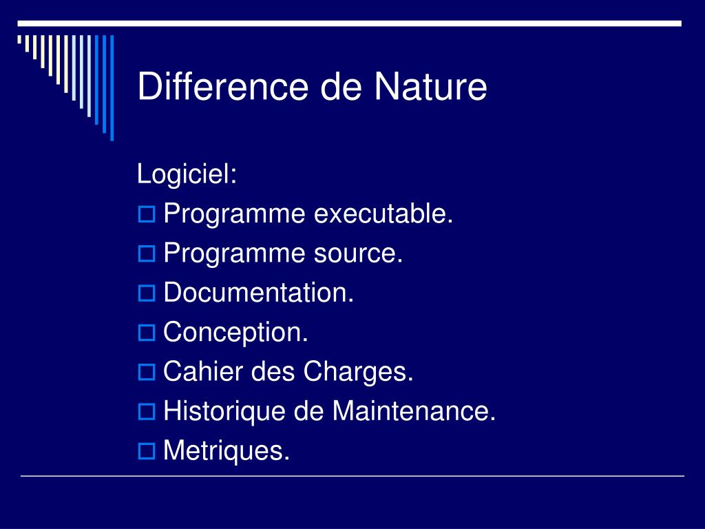 Difference de Nature