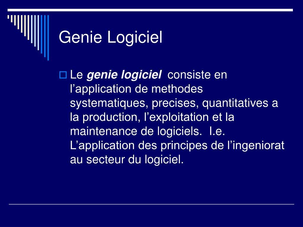 Genie Logiciel