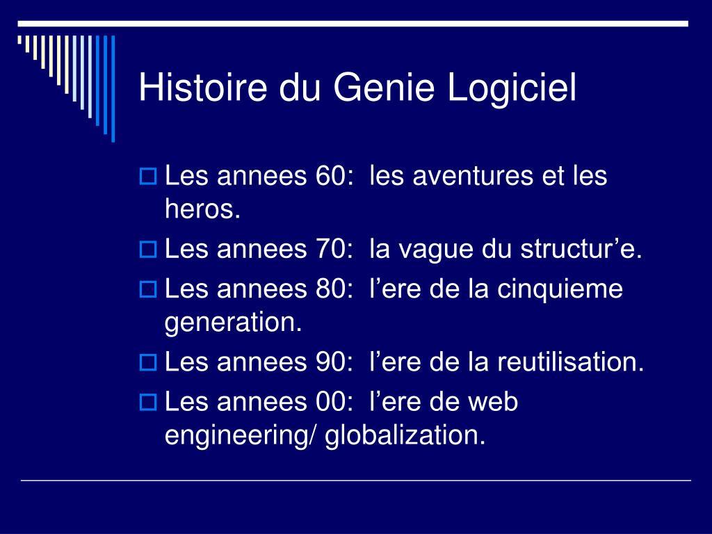 Histoire du Genie Logiciel
