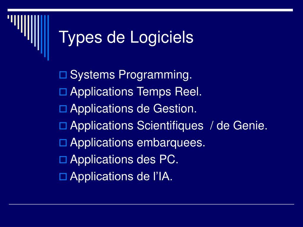 Types de Logiciels