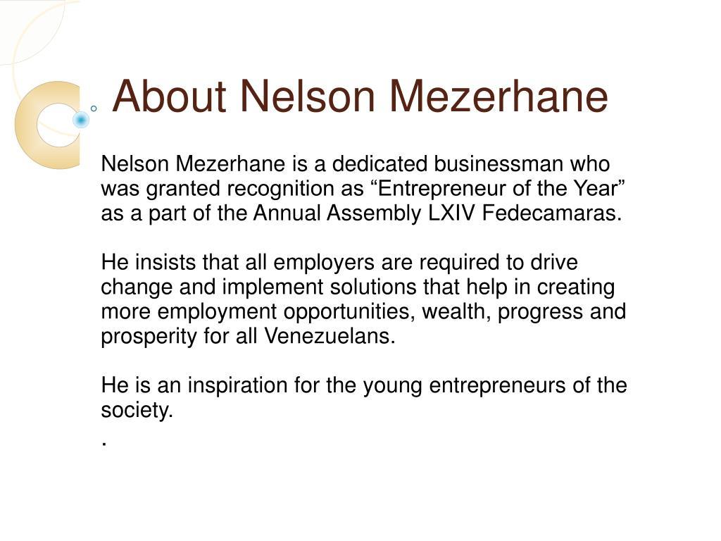 About Nelson Mezerhane