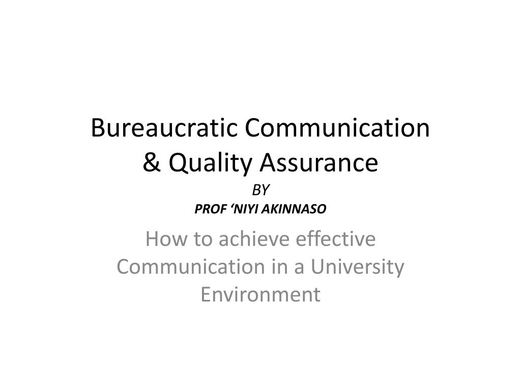Bureaucratic Communication