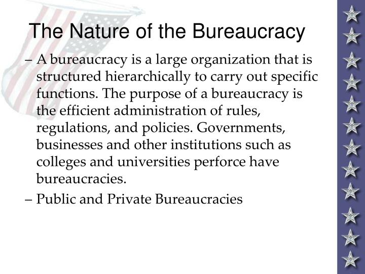 The nature of the bureaucracy