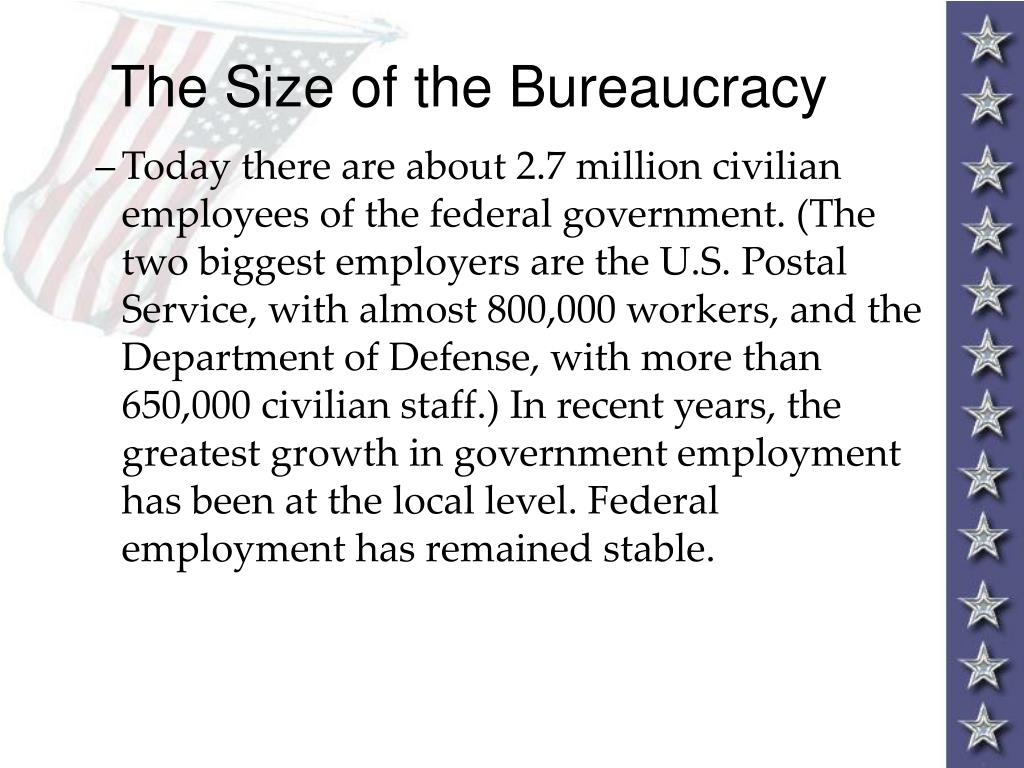The Size of the Bureaucracy