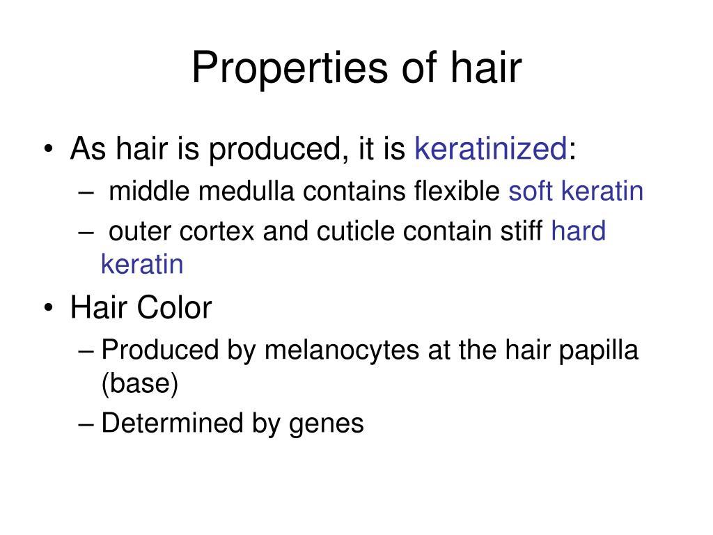 Properties of hair