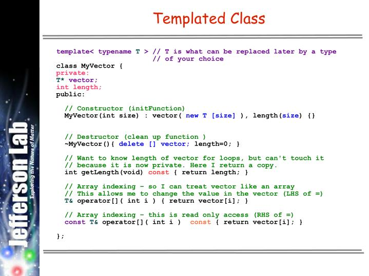 Templated Class